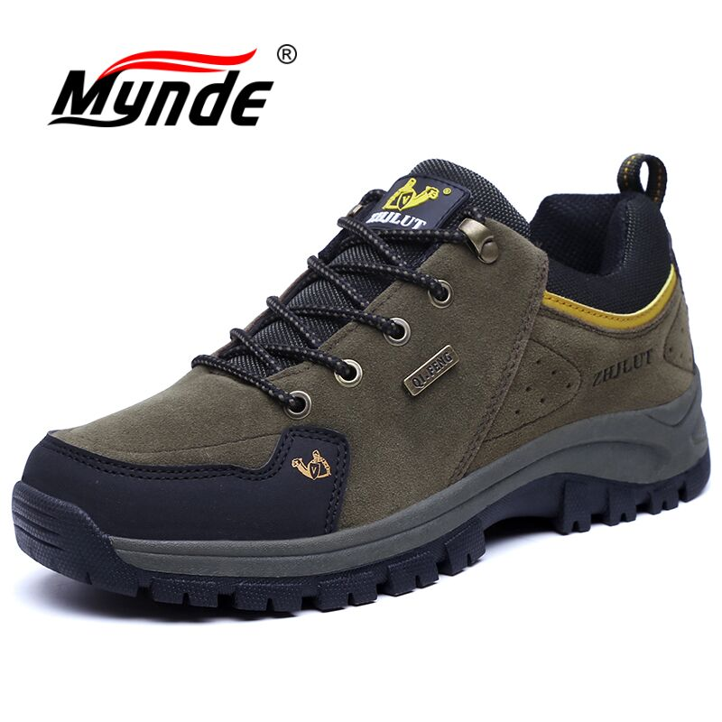 Mynde Suede Leather Winter Men Women Boots Warm Plush Sneakers Brand Outdoor Unisex Sport Shoes Comfortable Running Shoes