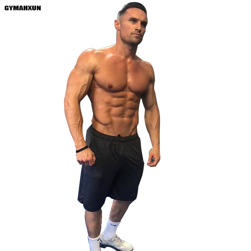 New Gyms Casual Shorts Men Fitness bodybuilding slim Fit High Quality Over knee Beach Shorts mens Cotton Joggers sweatpants