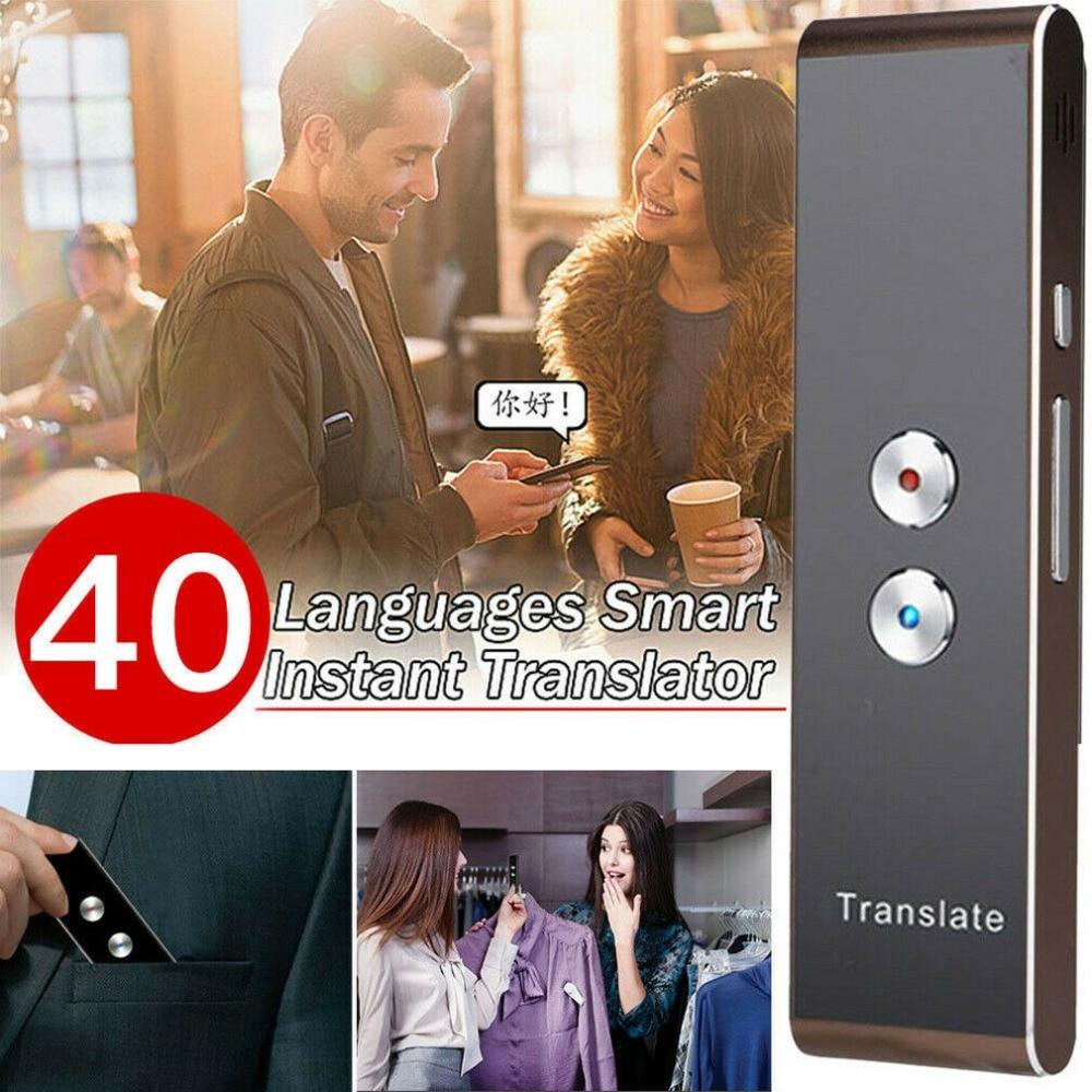 Smart Instant Voice Translator 40 Languages Multi-Languages Speech Interactive Translation Tool Bluetooth Portable Mini Smart Instant Voice Translator 40 Languages Multi-Languages Speech Interactive Translation Tool Bluetooth Portable Mini