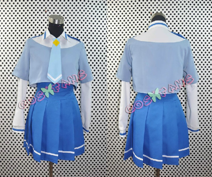 Free shipping Custom Cheap Aoki Uniform from Smile PreCure Cosplay costume