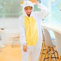 Adult Unisex Sheep Onesies Winter Warm Cos Pajamas Flannel S XL