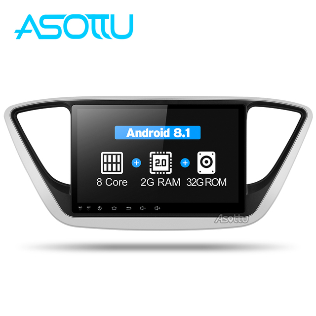 Asottu C17YN9060 reproductor de DVD GPS para coche nuevo Hyundai Verna 2017 unidad de cabeza para coche Radio reproductor de vídeo navegación 2 din dvd gps