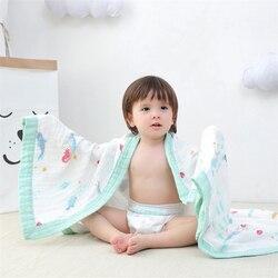 Wielofunkcyjny 4 warstwy muślinowy koc dla dziecka 125*125cm ręcznik kąpielowy dla dzieci bawełna noworodka przewijać koc niemowlę Wrap otrzymaniu koc w Koce i rożki od Matka i dzieci na