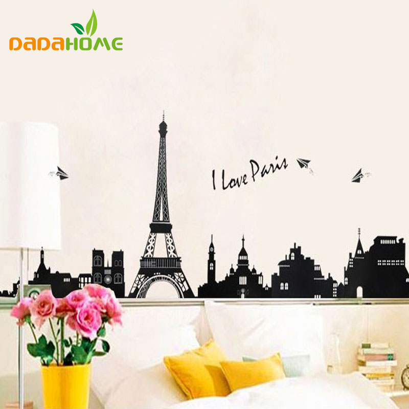 110 Cm * 38 Cm PVC Eiffel Tower Wall Hangings Living Room Bedroom  Background Decoration Wall Stickers TC954 Part 58