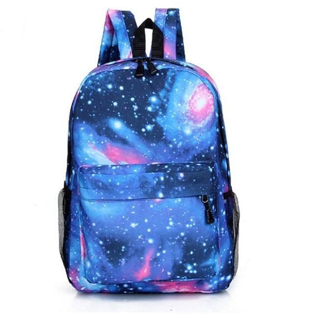Холст Подросток школьная сумка Книга Кампус Рюкзак звездное небо Отпечатано Mochila пространство рюкзак