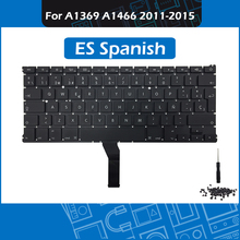 Full New for Macbook Air 13″ A1369 A1466 Replacement keyboard with Backlight ES Spanish Layout 2011-2015 EMC 2469 2559 2632 2925
