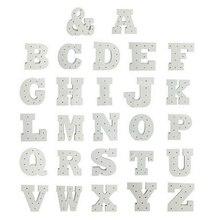 Горячий белый деревянный буквенный светодиодный светильник с буквенным знаком, светильник с алфавитом, Ночной светильник, украшение для стен в помещении, для свадебной вечеринки, оконный дисплей, светильник