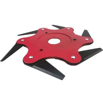 6 Tooth Metal Blade Trimmer Head Cutter Blade for Garden Lawn Mowers Machine Accessories Tools