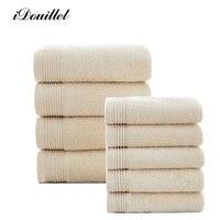 IDouillet Jakości 16 S Bawełny Łazienka Ręczniki Zestaw do Domu Hotelu & Spa Ręcznik Frotte Ręczniki i Ręcznie Światła Camel