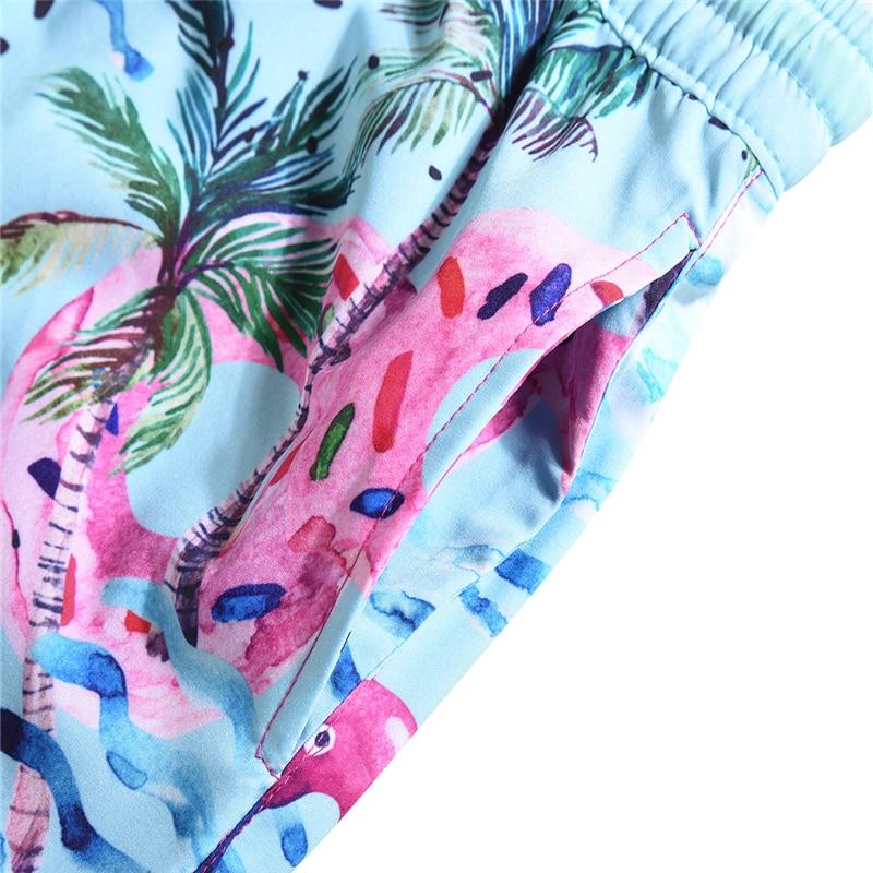 Women Summer Shorts Casual Drawstring Waistband coconut wind graffiti 3D print Beach Style Swim Pool with Pocket Female Shorts