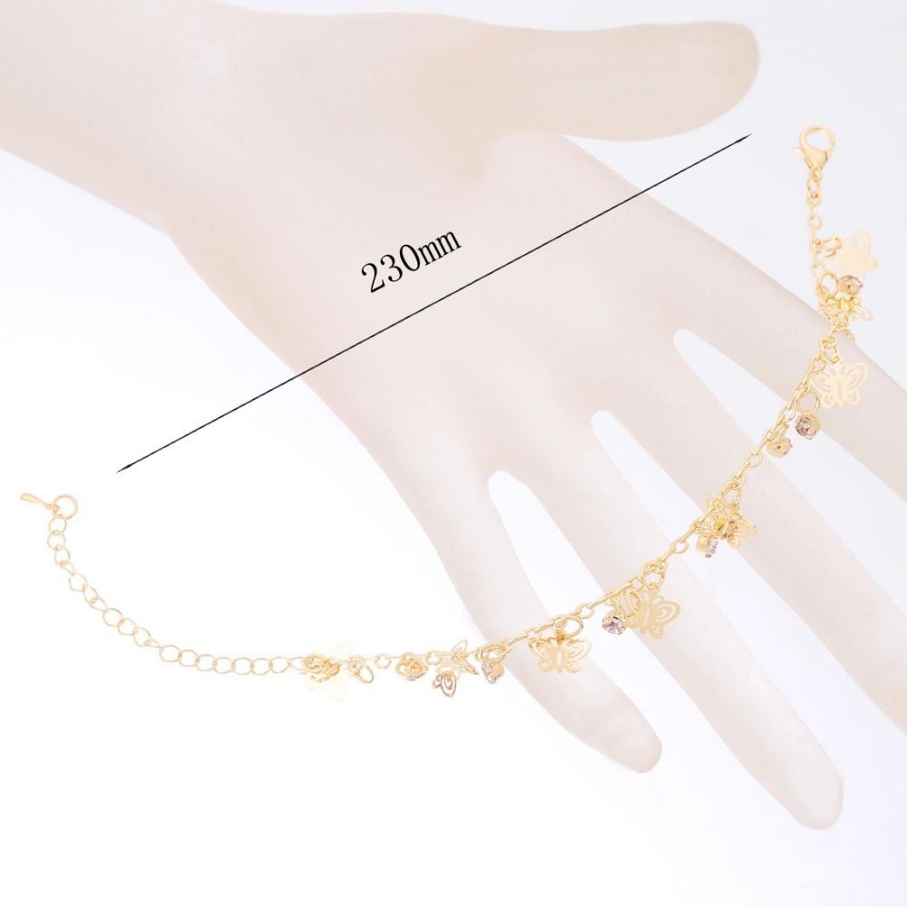 Nouveau Design de mode or-couleur papillon forme bracelets pour femme main chaîne bijoux cadeau livraison directe - 4