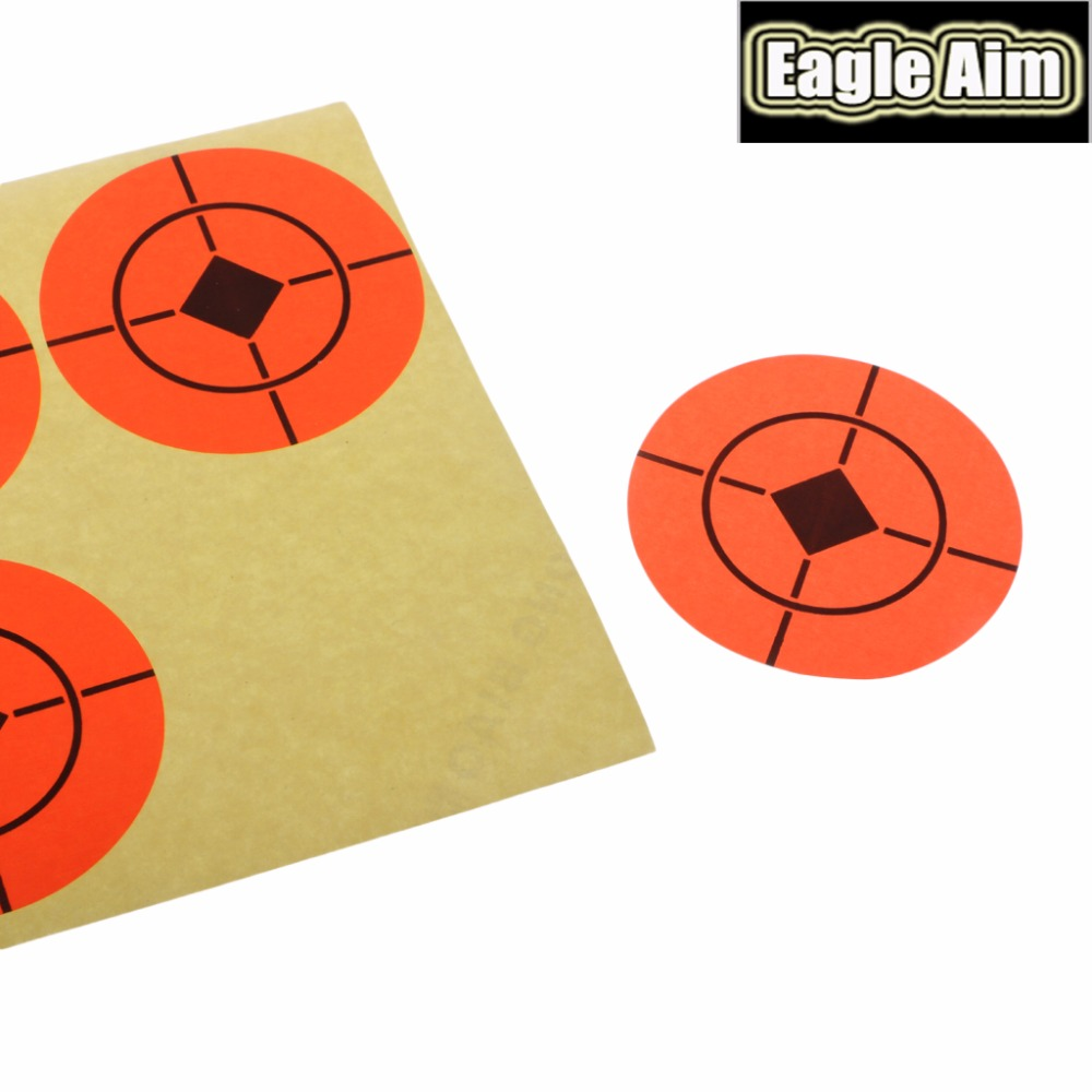 Image 5 - 2 Inchx 500pcs Shooting Target Paper Orange Florescent Self Adhesive Targets Stickers for Airsoft BB Gun Shooting Targets-in Paintball Accessories from Sports & Entertainment