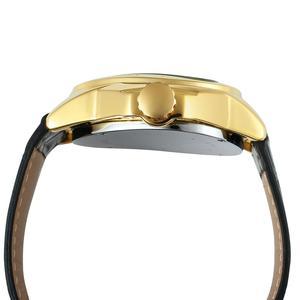 Image 3 - Kazanan moda yaratıcı üçgen yüzey klasik siyah altın üç pointer kemer erkekler kol saati