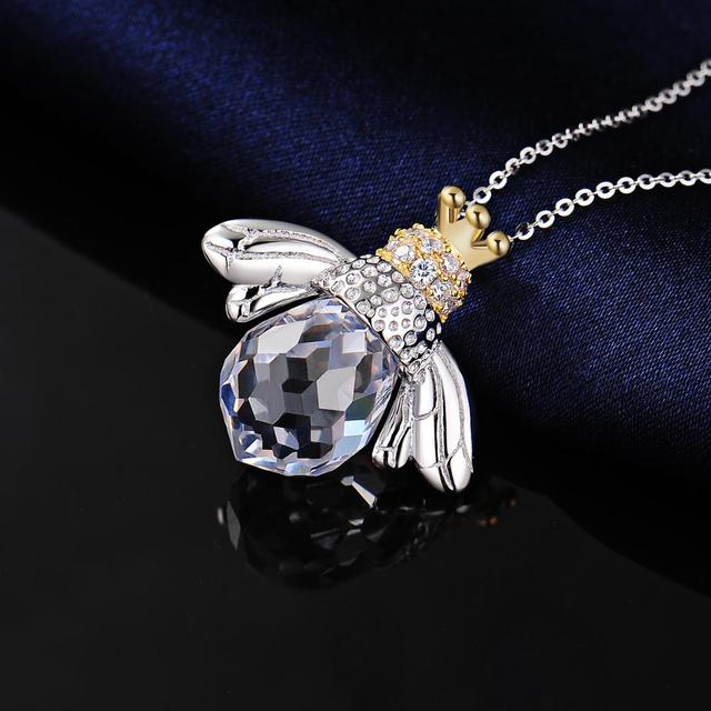 Bee Crown Sterling Silver Pendant