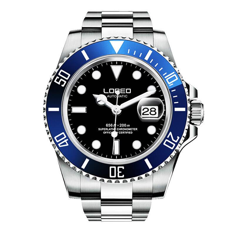 LOREO 9201 allemagne montres professionnel plongeur 200 M oyster perpétuel automatique mécanique deux tons spécialité Aquamaster