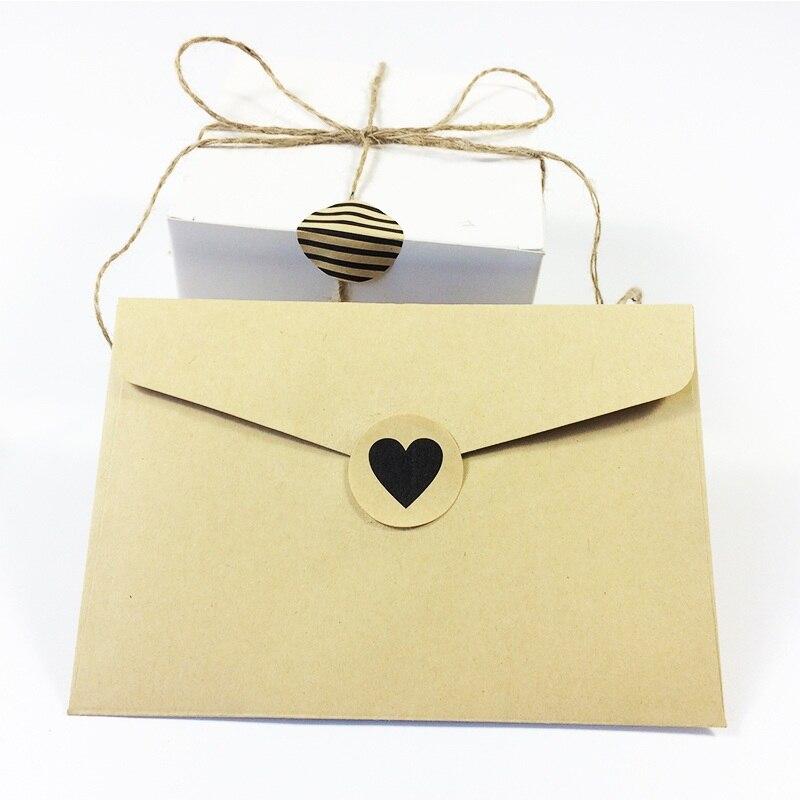 Купить с кэшбэком 90pcs  Vintage Fashion Heart+Dots+Twill  series Round Kraft paper  Sticker for Handmade Products Gift seal sticker label