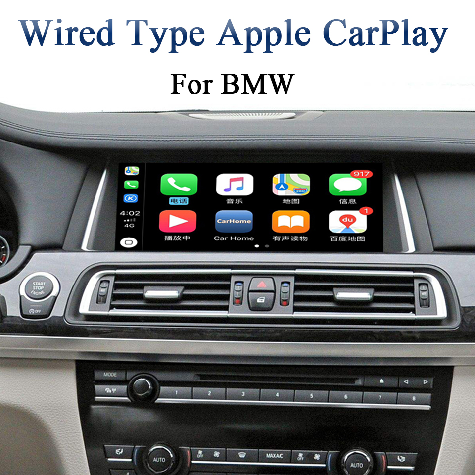 Android Auto CarPlay Apps for BMW NBT Series 5 F10 / F11 2012 2017 Cars Add Aftermarket Rear View Camera