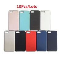10Pcs Lots Luxury Silicon Phone Cases For Iphone 6 6S 7 8 X Back Cover Case