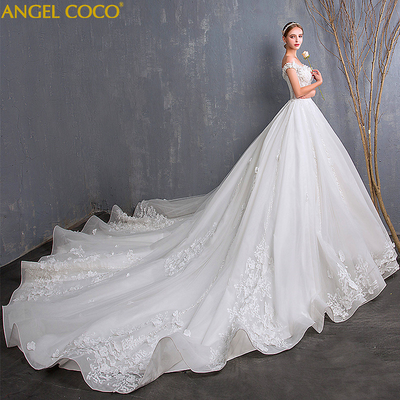 bf8a8606c1892 Large Size Pregnant Women Wedding Dress Plus Fertilizer To Increase Luxury  Big Tail Pregnancy Maternity Dress Wedding Gown 2018 -in Dresses from Mother  ...