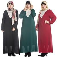 2017 Hot New Women Big Yard Plus Size Dresses Muslim Abaya 5XL Muslim Middle East Long Sleeved Gown Abaya