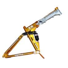 Folding MTB bike frame MTB X6 Aluminum alloy mountain bike 26 * 17″ full suspension bicycle frame Mountain bike frame