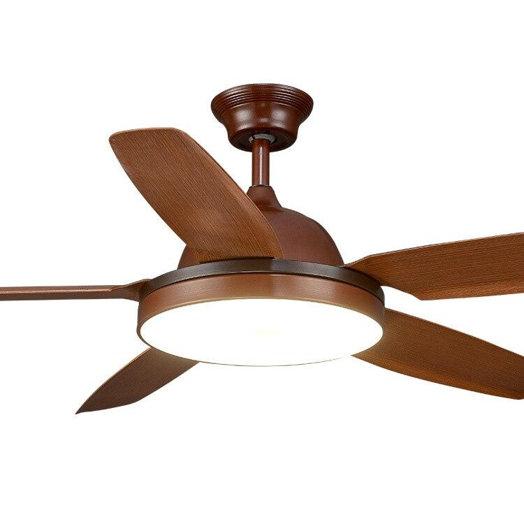 56 pollice Sala da pranzo luce ventilatore A Soffitto Con telecomando Luce Ventilatore A Soffitto Lampada Ventilatore Soggiorno In Legno Europeo Bronzo