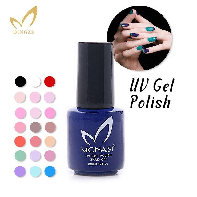 MONASI Free Shipping Magic Pretty Long Lasting Green Color Nail Gel UV Varnish Fast Dry Charming 5ml/pcs (DA121~DA151)