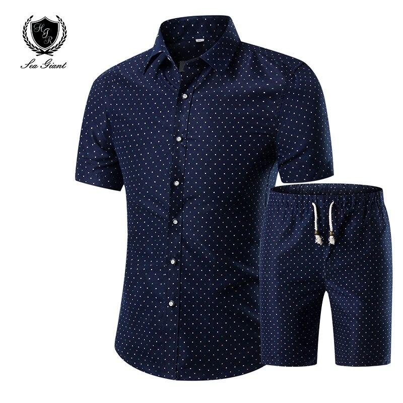 Hot summer short sleeved shirt suit men floral pattern for Patterned dress shirts for men