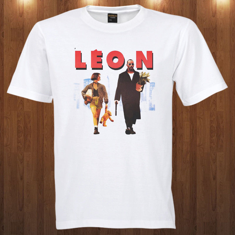 Leon The Professional tee thriller film Jean Reno S M L XL 2-3XL T-Shirt hitman Funny Short Sleeve Cotton T-Shirts