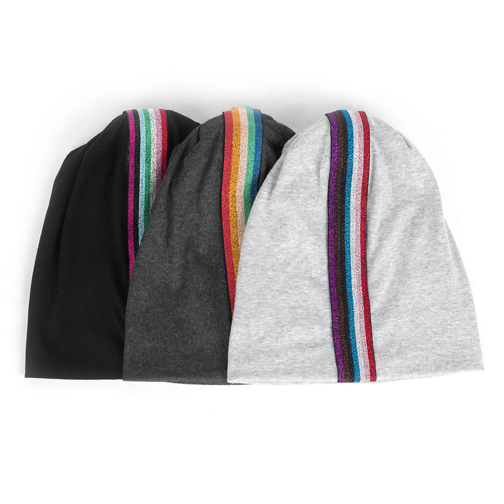 Man Casual Outdoor Colorful Rainbow Accessories   Beanies   Women   Skullies     Beanies   Bonnet For Female Turban Wraps Spring Boho Caps