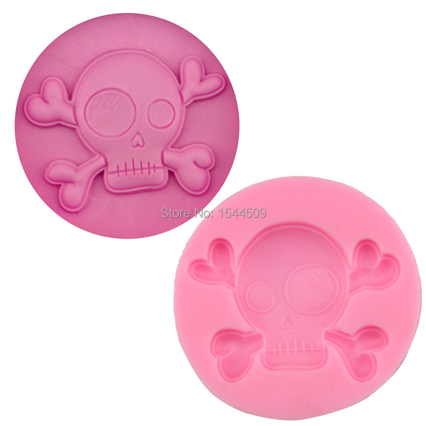 1pcs 3d halloween skull silicone baking fondant cake chocolate soap sugar craft mold mould cutter silicone