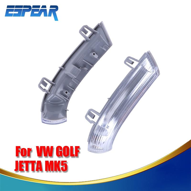 For VW Jetta Golf MK5 Passat Eos 2003-2012 Beetle Side Marker Light Turn Signal Lamp Smoked Lens Housing #980 2pcs white led under side mirror puddle light fit for vw eos gti passat b6 jetta golf 5