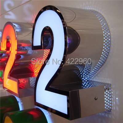 Factoy Outlet Outdoor Front Light Acrylic Sign