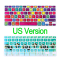 Colors Silicone Keyboard Cover Protector Stickers For laptop Macbook Pro Air Retina 13 15 17 inch