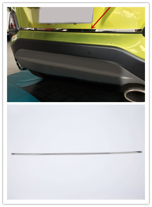 Car Styling Accessories 1PCS Stainless Steel Rear Trunk Tail Gate Molding Cover Decoration Trim For Hyundai Kona 2017 2018