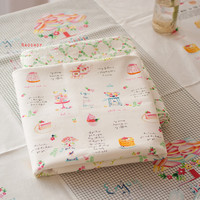 Cotton linen curtain sofa cushion tablecloth apron fabric English afternoon tea macarons styles