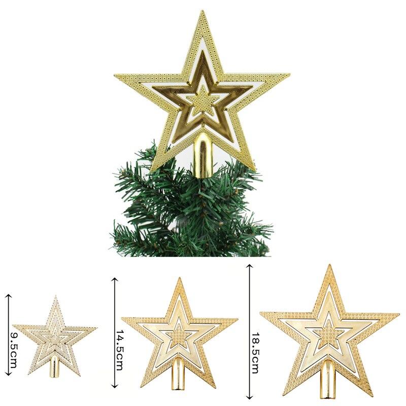 unids nueva estrella de oro del rbol de navidad decoracin del rbol de navidad ornamento