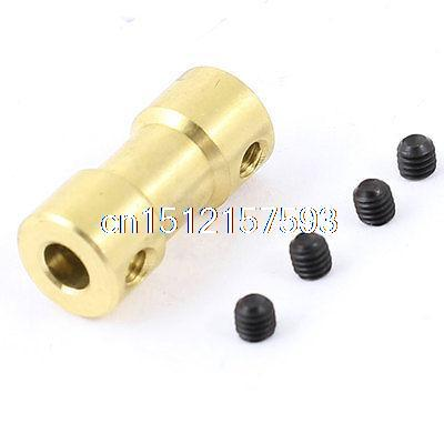 4mm to 5mm Brass Joint Motor Shaft Coupling Adapter Connector for RC Aircraft diy stainless steel motor universal coupling 5 x 5mm