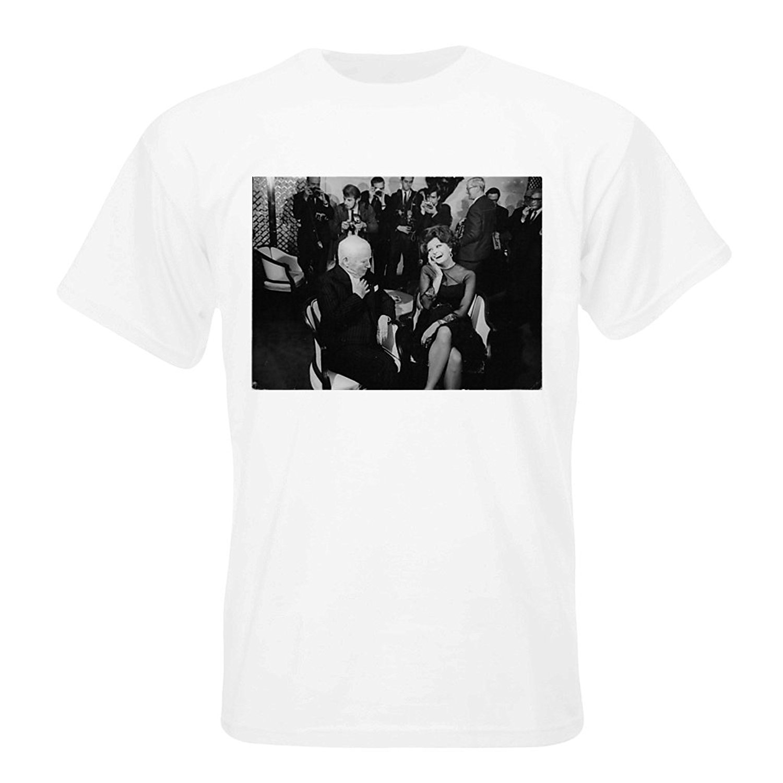 Printed T Shirts Online Short Sleeve Charlie Chaplin And Sophia