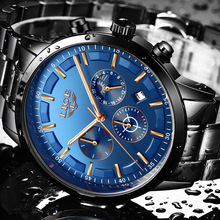 2018 Moon phase Business Waterproof LIGE9877