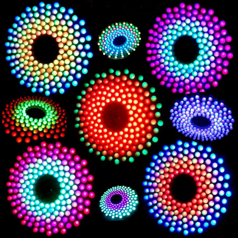 RGB LED Audio Spectrum Flashing Kit Fantastic 9X18 Aurora Electronic DIY Suite