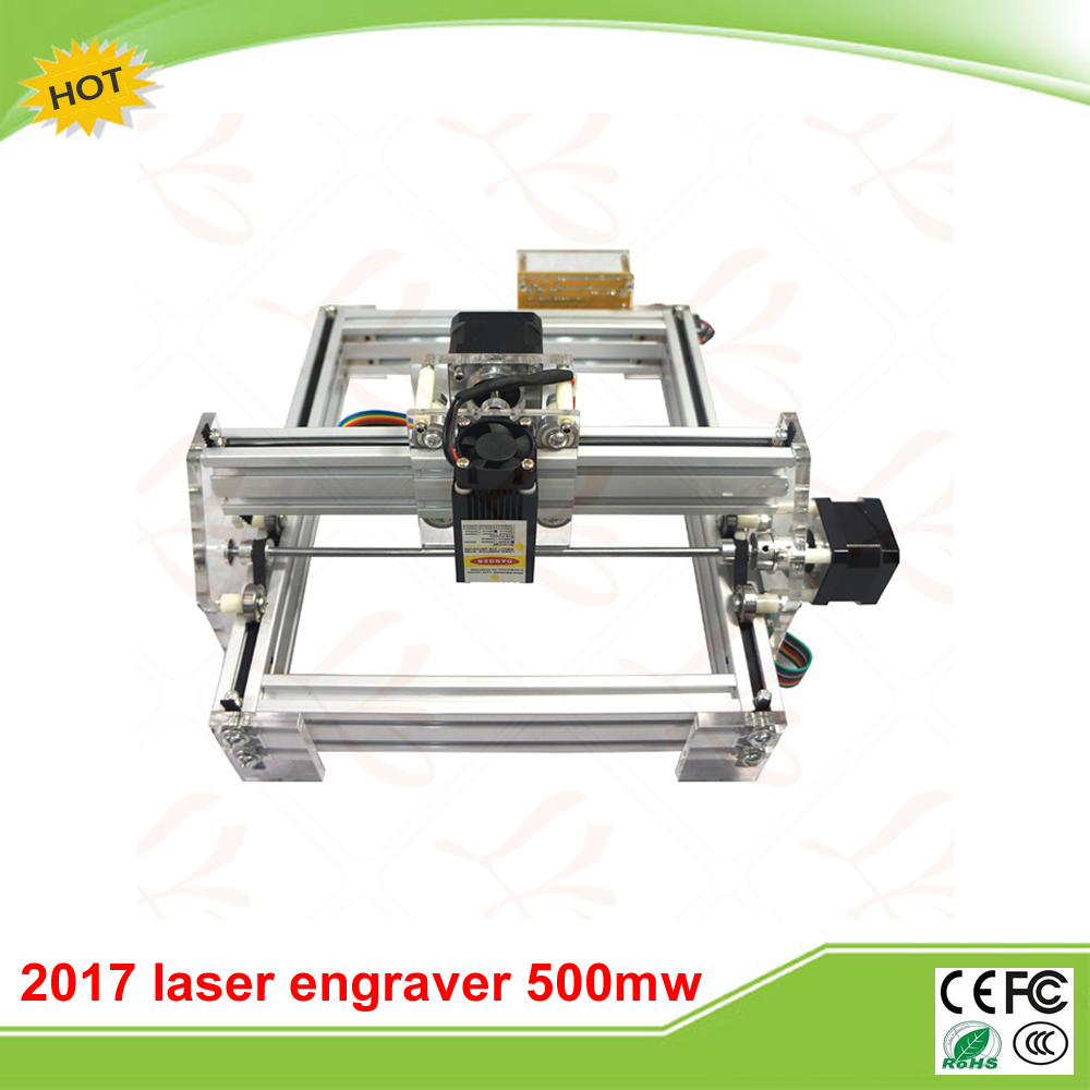 LY 2017 500mw Blue Violet Laser Engraving Machine Mini DIY Laser Engraver IC Marking Printer Carving Size 20*17CM blue laser head engraving module wood marking diode 2 5w glasses circuit board for engraver wood metal plastic carving mayitr