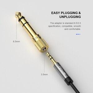 Image 2 - QGEEM Martinetti 6.5 6.35 millimetri Spina Maschio a 3.5mm Femmina Connettore Amplificatore Per Cuffie Audio Adattatore Microfono AUX 6.3 3.5mm Converte