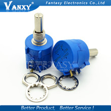 1PCS 3590S-2-103L 3590S 10K ohm 103 3590S-2-103 3590S-103 Precision Multiturn Potentiometer 10 Ring Adjustable Resistor