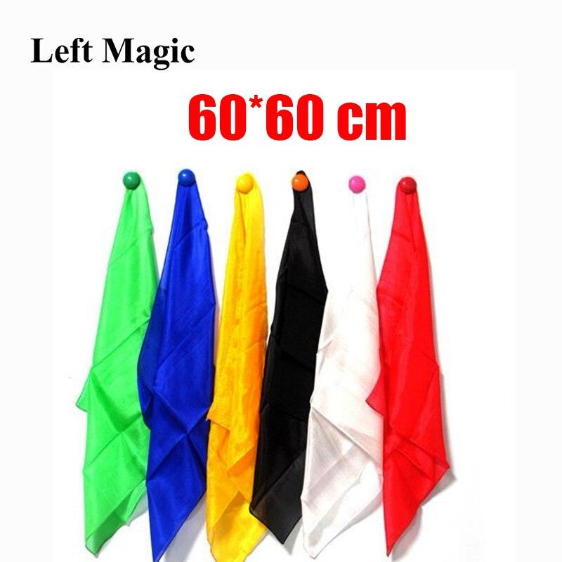 1 Pcs Colorful Silk 60*60 Cm Scarf Magic Tricks Learning & Education Magic Silk For Close Up Magic Prop  E3136