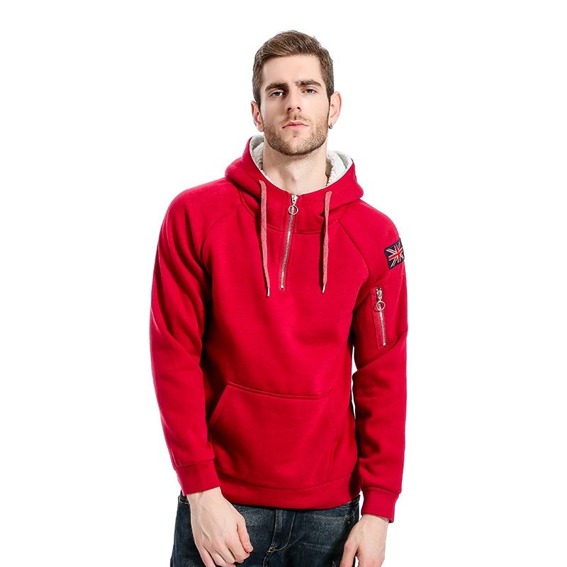 LAAMEI Brand 2018 Hoodie Pullover Oblique Zipper Hoodies