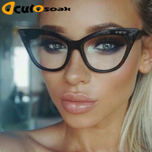 2019 New Cat Eye Glasses Frame Women Brand Designer Optical Eyeglasses Ladies Fashion Retro Clear