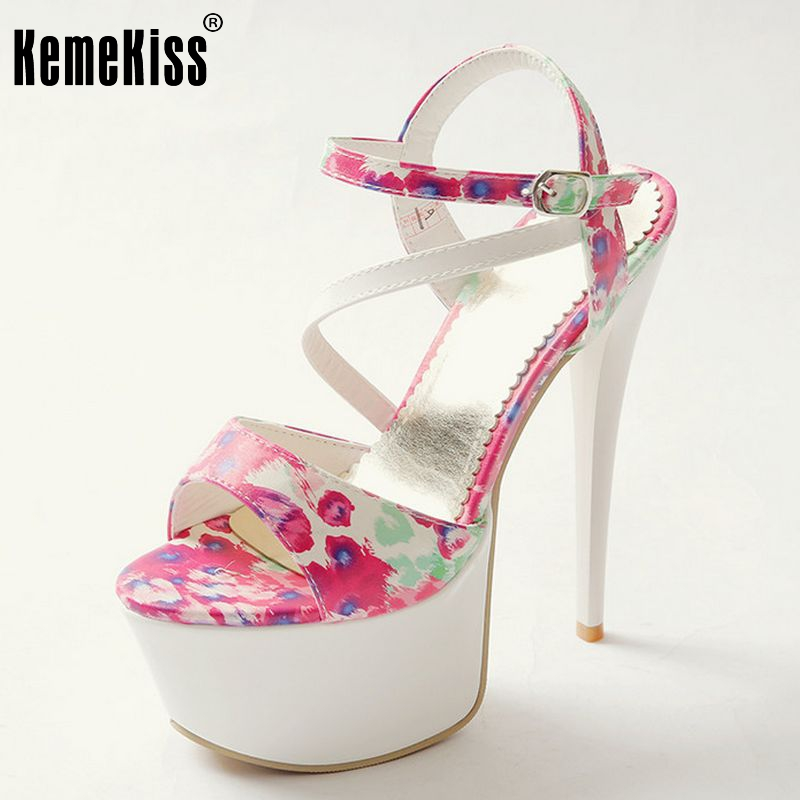 ankle strap lady brand summer high heel sandals new design platform party women sexy heels 16cm footwear shoes size 33-40 P23261 brand new strap high heels sandals women sandals with platform footwear woman evening shoes women sexy ladies shoes