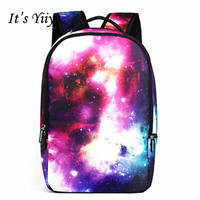 It's Yiya Sales Women PU Backpack Preppy Style Student Bag Teenager Unisex Stars Eurpean Style Girls Cheap Backpack LY079