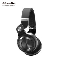 Original Bluedio T2+ Bluetooth headphones foldable wireless headsets with microphone for phones support FM radio & SD card